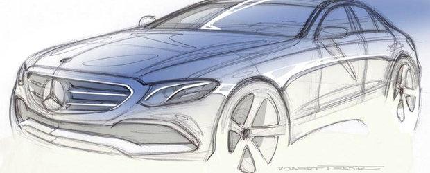 Schita noului E-Class ne dezvaluie una-alta despre exteriorul masinii germane