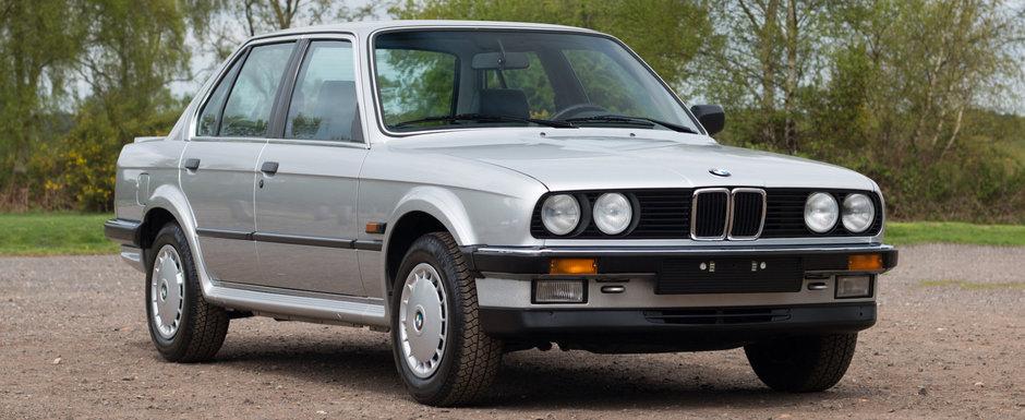Scos din capsula timpului si pus la vanzare pe internet: BMW-ul Seria 3 E30 niciodata inmatriculat