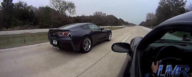 Scurta demonstratie de forta din partea celui mai puternic Corvette C7 din lume