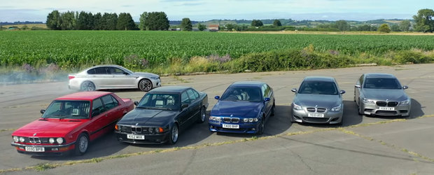 Scurta istorie BMW M5. In 1985 era cel mai rapid sedan de pe sosele iar azi are peste 600 CP