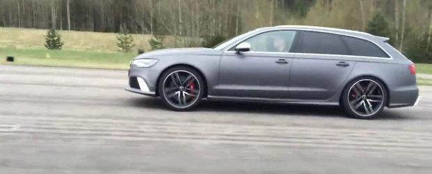 Scurta liniuta intre un Audi RS6 si un BMW M5, ambele modificate