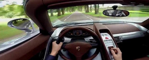 Scurta plimbare la volanul unui Porsche Carrera GT cu evacuare directa