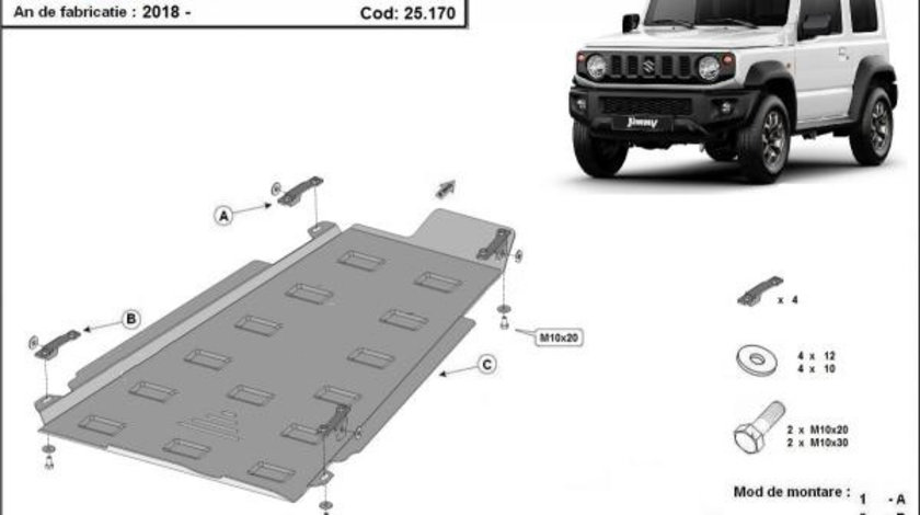 Scut metalic cutie de viteză si reductor Suzuki Jimny 2018-prezent
