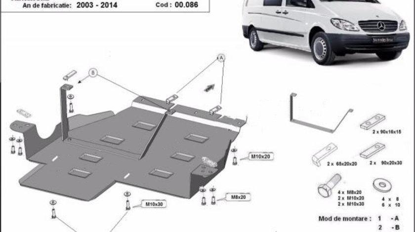 Scut metalic cutie de viteze si reductor Mercedes Vito 4x4 automata W639 2003-2014