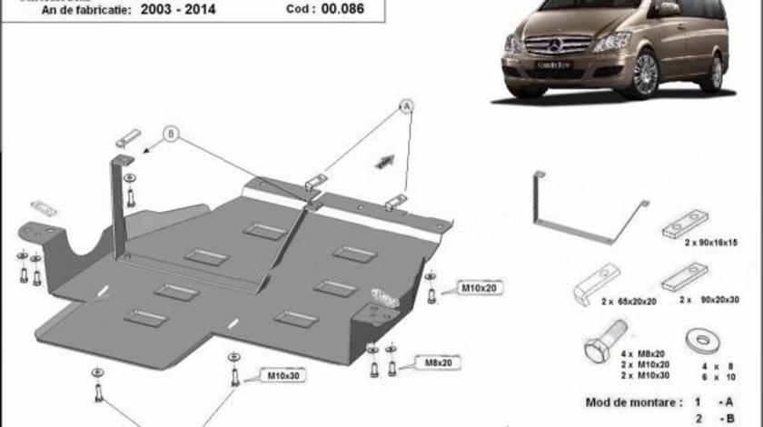 Scut metalic cutie de viteze si reductor Mercedes Viano W639 4x4 automata 2003-2014