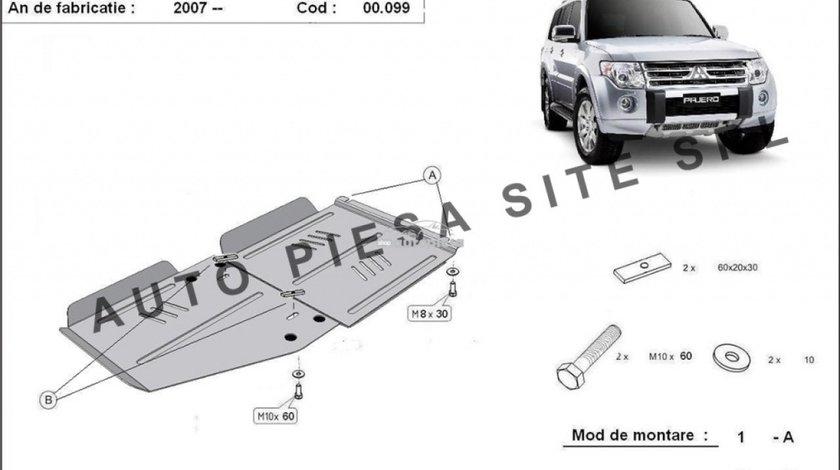 Scut metalic cutie + diferential Mitsubishi Pajero 4 IV fabricat incepand cu 2007 APS-00,099 produs NOU