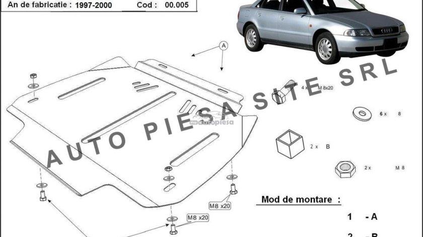 Scut metalic cutie viteze automata Audi A4 B5 (6 cilindrii) fabricat in perioada 1995 - 2001 APS-00,005 piesa NOUA