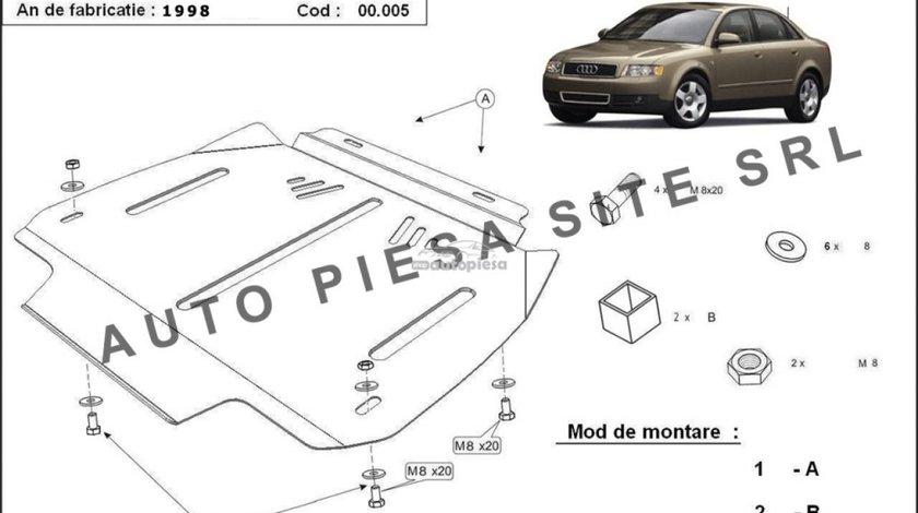 Scut metalic cutie viteze automata Audi A4 B6 (6 cilindrii) fabricat in perioada 2001 - 2005 APS-00,005 piesa NOUA