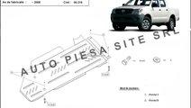 Scut metalic cutie viteze + diferential Toyota Hil...