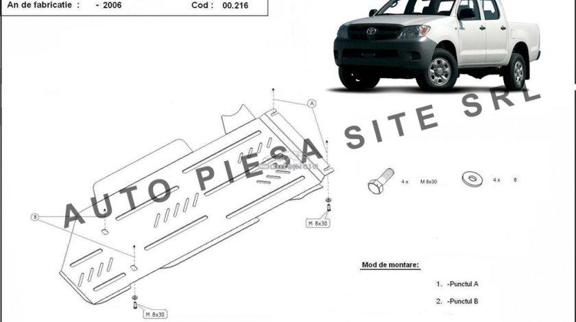 Scut metalic cutie viteze + diferential Toyota Hilux fabricata incepand cu 2006 APS-00,216 piesa NOUA