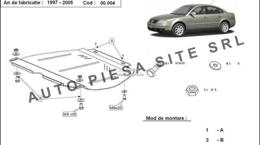Scut metalic cutie viteze manuala VW Passat (3B3, 3B6) fabricat in perioada 2001 - 2005 APS-00,004 - produs NOU