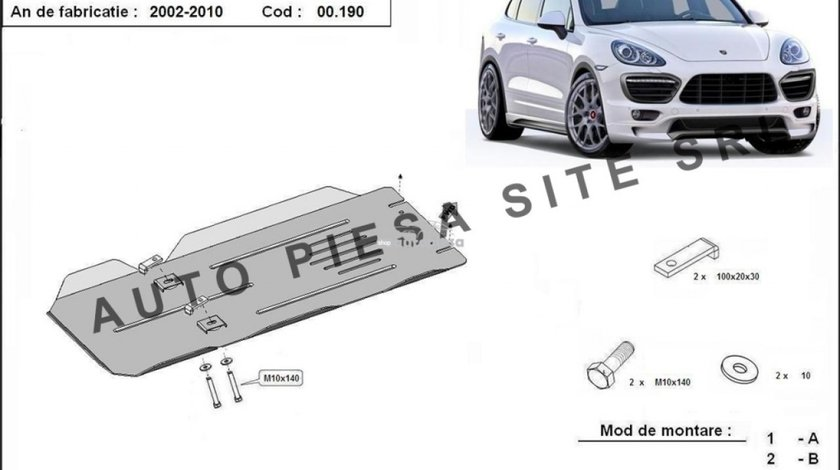 Scut metalic cutie viteze Porsche Cayenne fabricat in perioada 2002 - 2010 APS-00,190 piesa NOUA