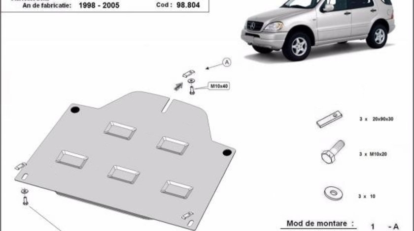 Scut metalic diferential Mercedes ML W163 1998-2005