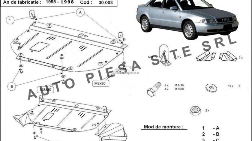 Scut metalic motor Audi A4 B5 (4 cilindrii) fabricat in perioada 1995 - 2001 APS-30,003 - produs NOU