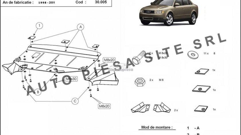 Scut metalic motor Audi A4 B5 (6 cilindrii) fabricat in perioada 1995 - 2001 APS-30,005 - produs NOU