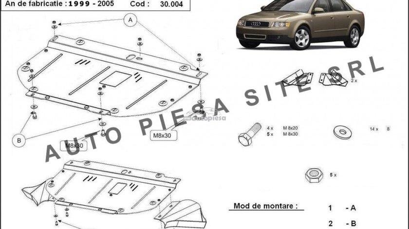 Scut metalic motor Audi A4 B6 (4 cilindrii) fabricat in perioada 2001 - 2005 APS-30,004 - produs NOU