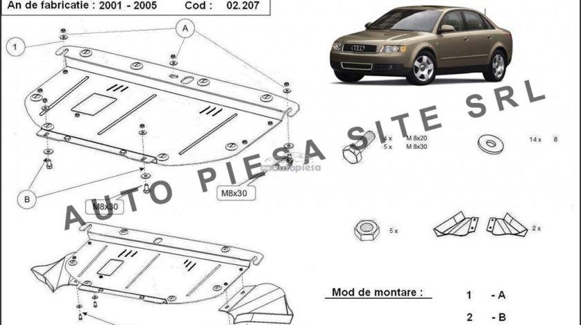 Scut metalic motor Audi A4 B6 (6 cilindrii) fabricat in perioada 2001 - 2005 APS-02,207 - produs NOU