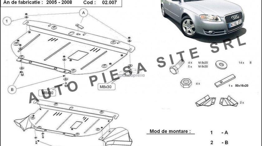 Scut metalic motor Audi A4 B7 (4 cilindrii) fabricat in perioada 2005 - 2008 APS-02,007 piesa NOUA