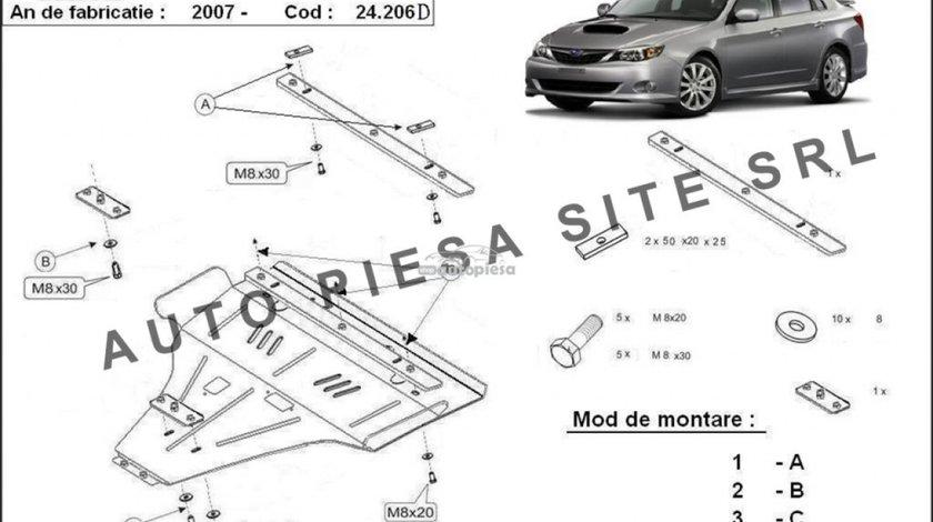 Scut metalic motor Subaru Impreza diesel fabricat incepand cu 2007 APS-24.206D piesa NOUA