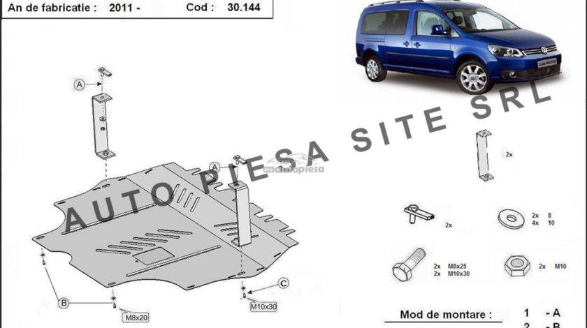 Scut metalic motor VW Caddy 3 III cu platforma de fier fabricat incepand cu 2011 APS-30,144 - produs NOU
