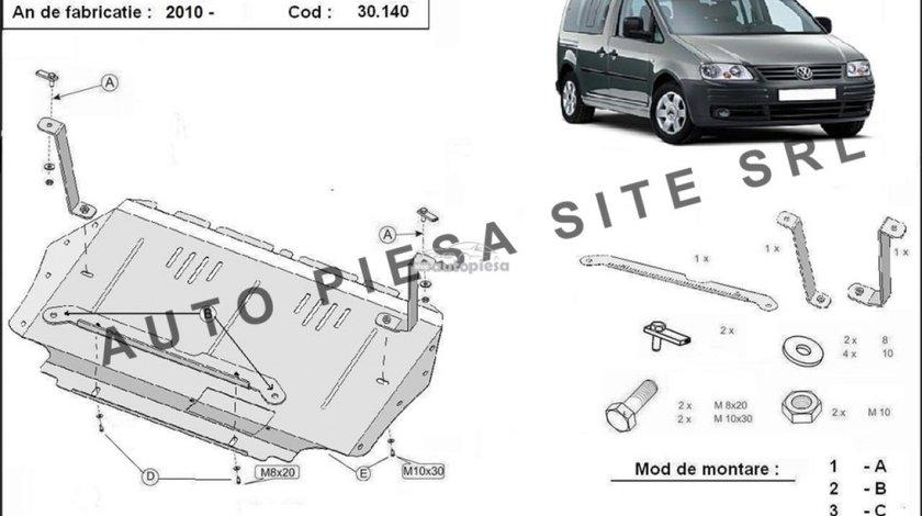 Scut metalic motor VW Caddy 3 III cu platforma aluminiu fabricat incepand cu 2010 APS-30,140 - produs NOU