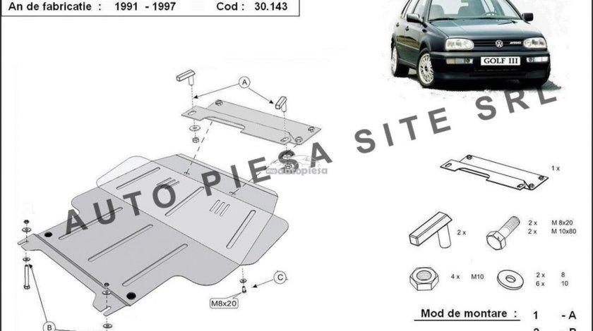 Scut metalic motor VW Golf 3 III fabricat incepand cu 1991 APS-30,143 produs NOU