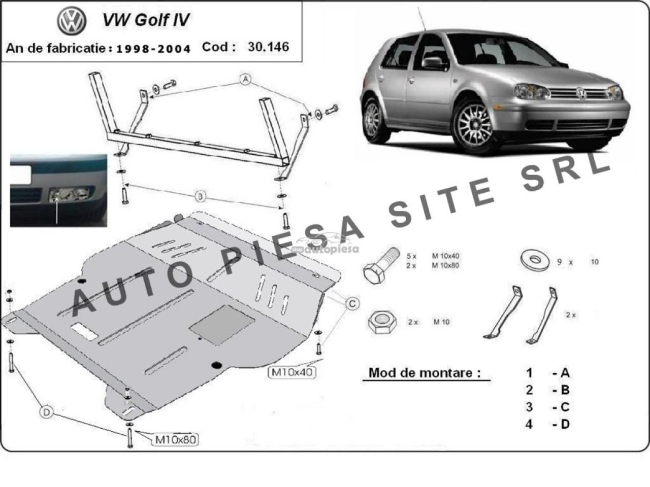 Scut metalic motor VW Golf 4 IV fabricat in perioada 1998 - 2004 APS-30,146 produs NOU