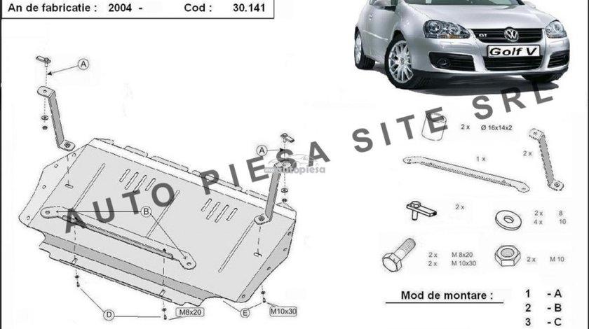 Scut metalic motor VW Golf 5 V fabricat incepand cu 2003 APS-30,141 piesa NOUA