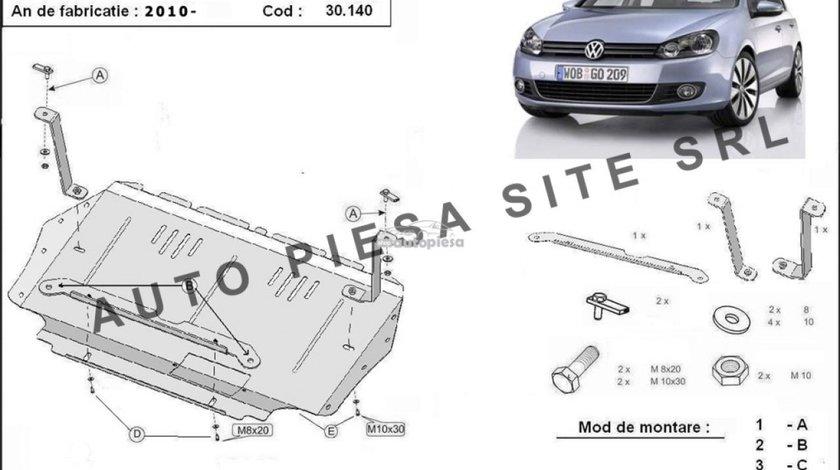 Scut metalic motor VW Golf 6 VI 1.2 TSI / 1.4 TSI / 1.6TDI fabricat incepand cu 2009 APS-30,140 - produs NOU