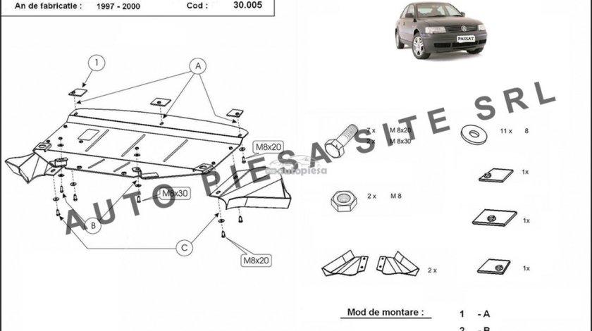 Scut metalic motor VW Passat (3B2, 3B5) 2.3 VR5 fabricat in perioada 1997 - 2000 APS-30,005 - produs NOU