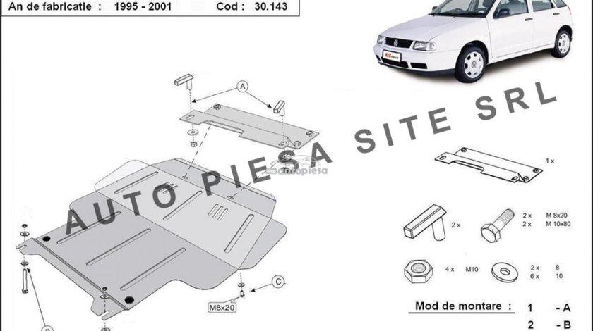 Scut metalic motor VW Polo 6N1 1.4 / 1.6 fabricat in perioada 1995 - 1999 APS-30,143 - produs NOU