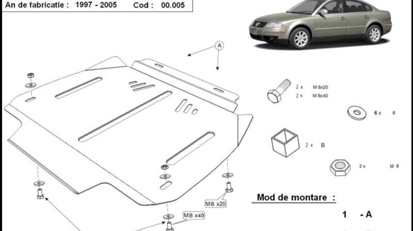Scut metalic pentru cutia de viteze automata VW Passat B5 1997-2005