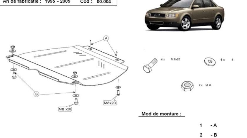 Scut metalic pentru cutia de viteze manuala Audi A4 B6 2000-2005
