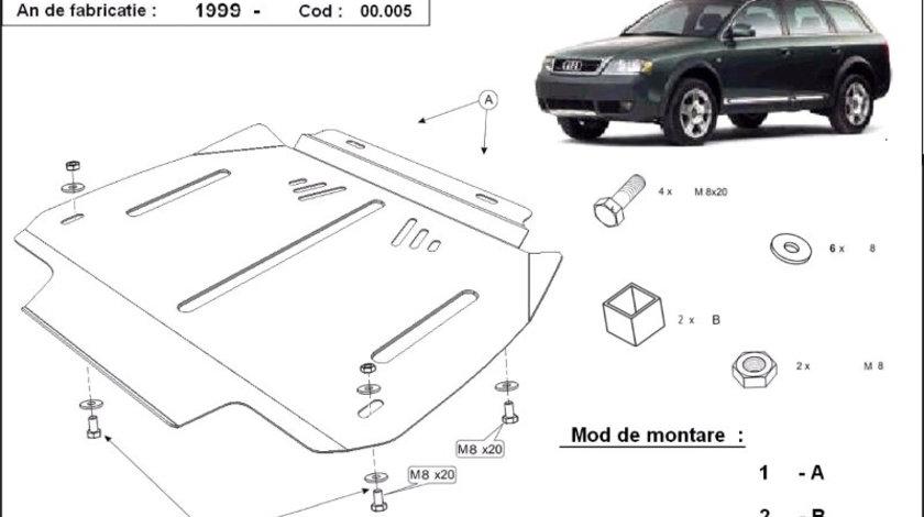 Scut metalic pentru cutie de viteze - automata Audi Allroad C5 2000-2005