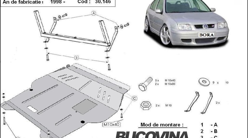 SCUT METALIC  PENTRU VW BORA