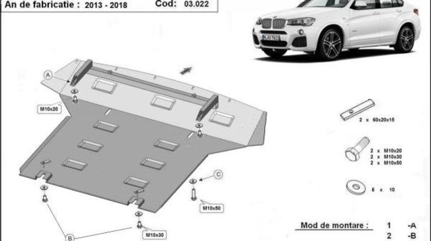 Scut motor metalic BMW X4 2013-prezent