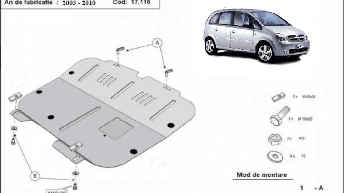 Scut motor metalic Opel Meriva A 2003-2010