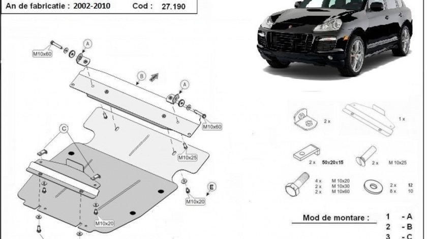 Scut motor metalic Porsche Cayenne 2002-2010