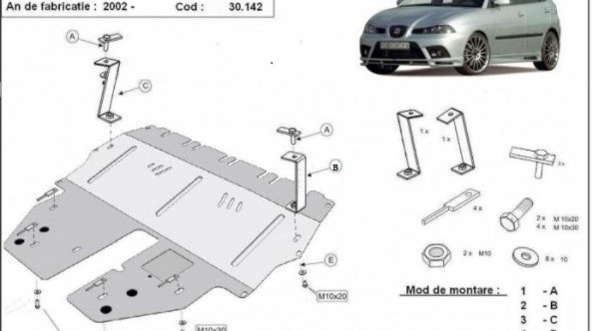 Scut motor metalic Seat Ibiza - Benzina 2002-2017
