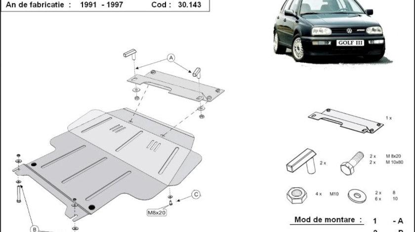 Scut motor metalic VW Golf 3 1991-1998