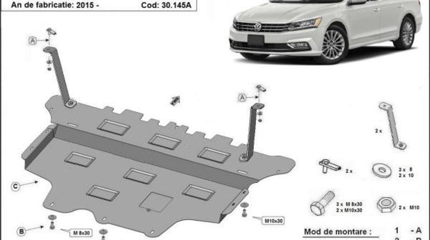 Scut motor metalic VW Passat B8 Cutie Automata 2015-prezent