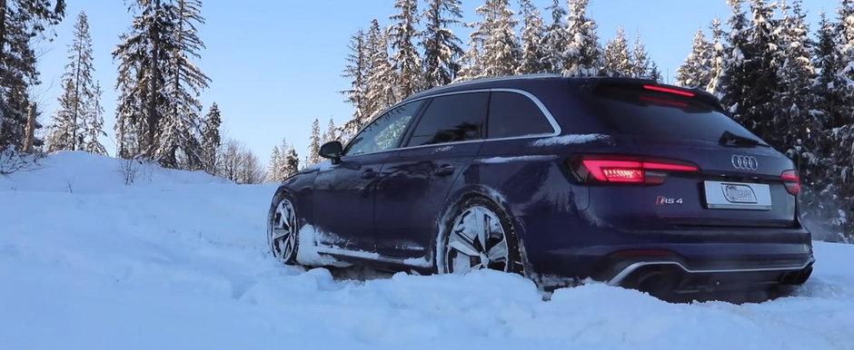 Se da prin zapada ca si cand ar fi asfalt. De asta quattro e cel mai tare sistem de tractiune integrala