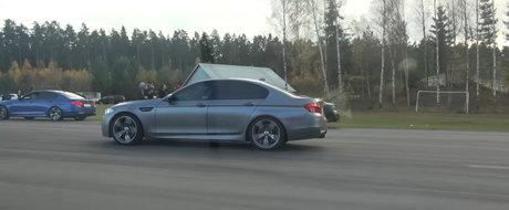 Se da un BMW M5, un Porsche 911 GT3 RS si un drum drept. Cine zici ca trece primul linia de sosire?