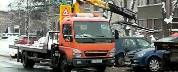 Se intampla in Bucuresti: Deszapezire NU, ridicat masini DA!