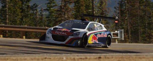 Sebastien Loeb a ajuns la Pikes Peak pentru a testa masina de concurs