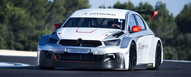 Sebastien Loeb ia la testat noul Citroen C-Elysee WTCC