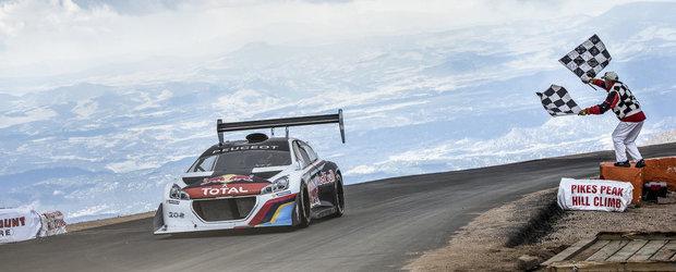 Sebastien Loeb si Peugeot 208 T16, record absolut la Pikes Peak!