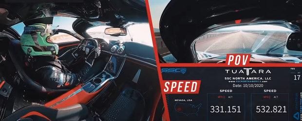 Sefii Bugatti dau PLAY si plang. VIDEO cu momentul in care SSC Tuatara atinge 532.93 km/h