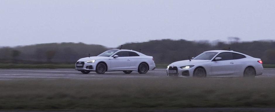 Sefii de la Audi rad, cel mai probabil, in hohote. Noul BMW Seria 4 Coupe a pierdut in fata vechiului A5