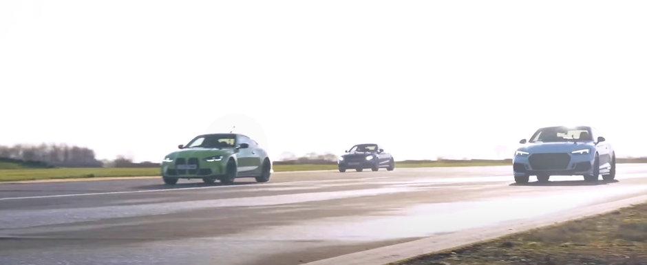 Sefii de la BMW rad, cel mai probabil, in hohote. Noul M4 a batut Audi RS5 si Mercedes C63 AMG Coupe